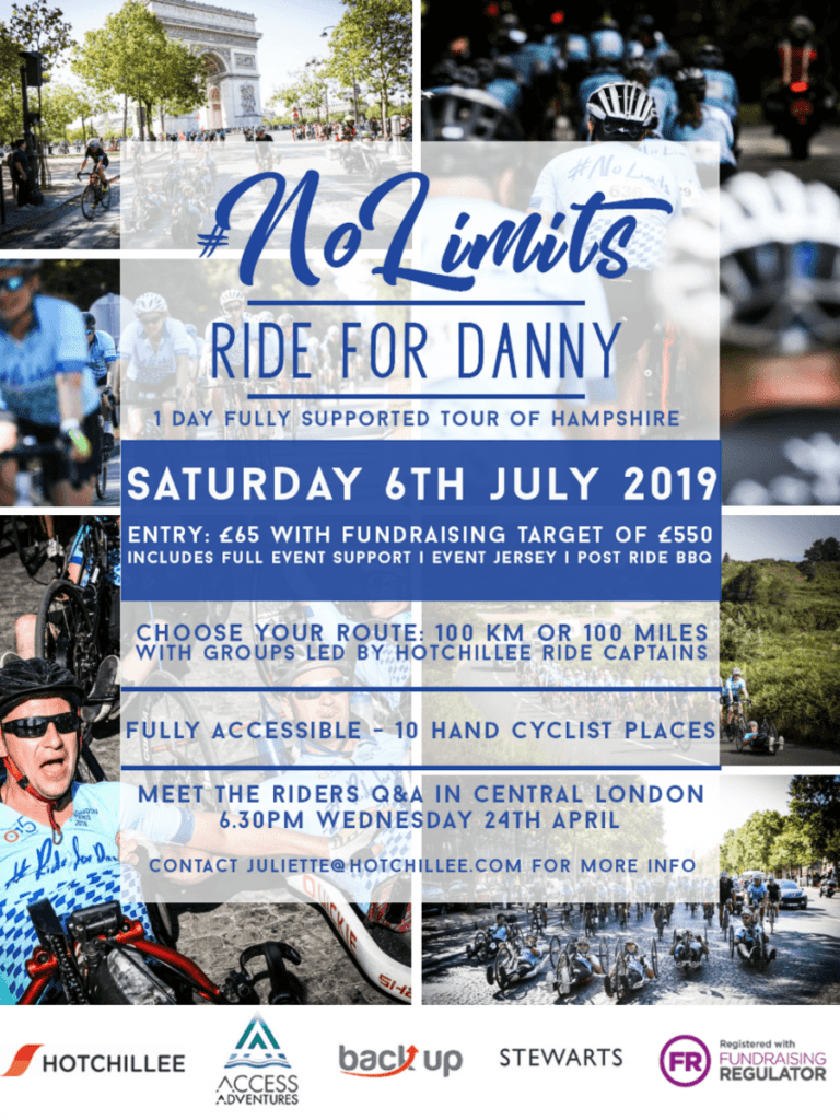 Ride for Danny 2019 Tour of Hampshire