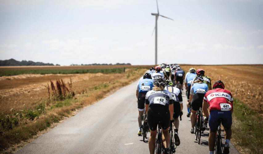 London-Paris by Tour de France windmill