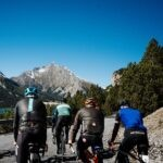 Cycling up mountains