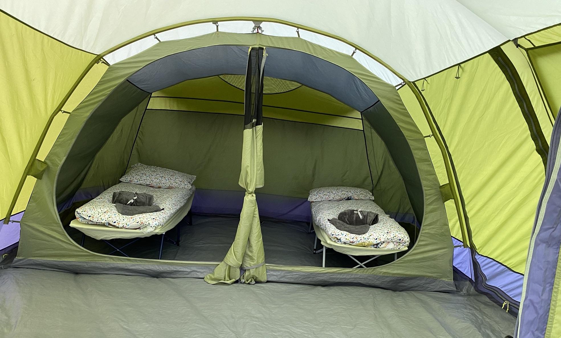Acorn tent sleeps two with bedding (1)