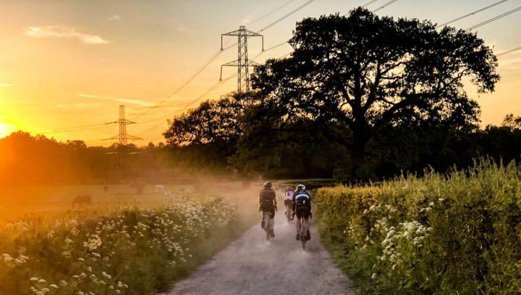 Evening Gravel Rides - riding in the dark